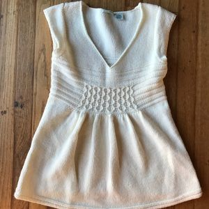 Anthropologie, Guinevere cream knit top